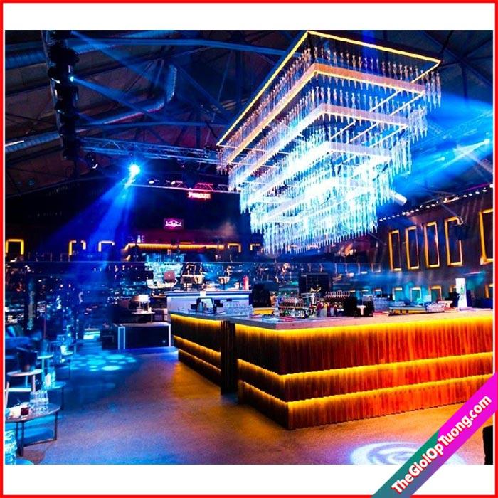 Thi công nội thất bar club - cung cấp vật liệu ốp tường, lát sàn