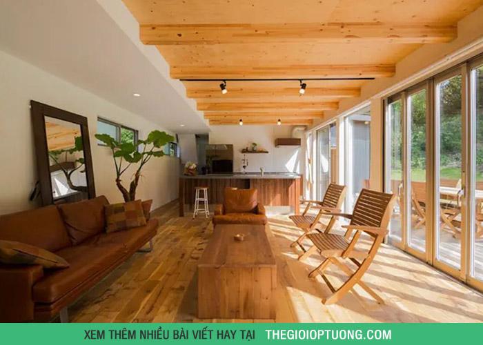 Nhà gỗ 2 tầng dành cho những ai thích sự ấm áp
