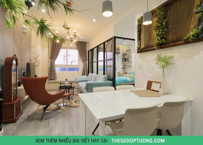 Trang trí căn hộ 2 phòng ngủ có không gian ấm cúng