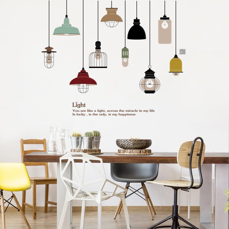 Decal dán tường cafe kiểu hiện đại và decal quán cafe vintage