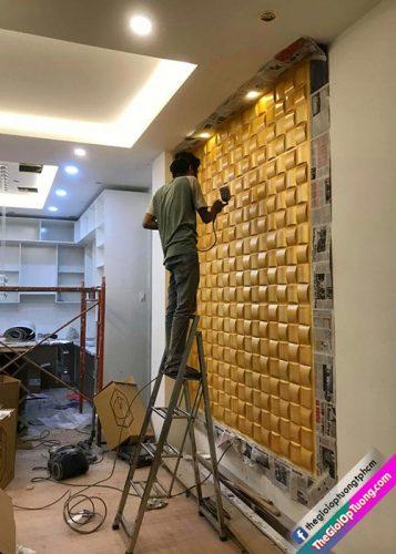 Đặt mua và thi công tấm ốp tường 3d cao cấp tại đơn vị Thế Giới Ốp Tường