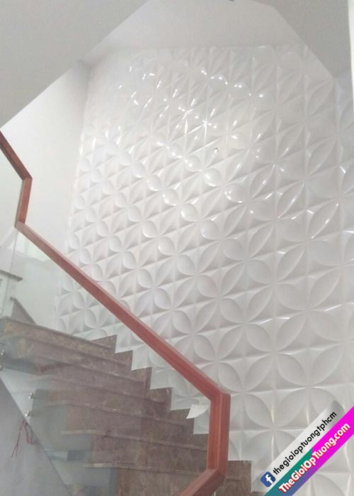 Tấm nhựa ốp tường 3d, Thi công ốp 3D nhựa PVC nhiều mẫu giá tốt