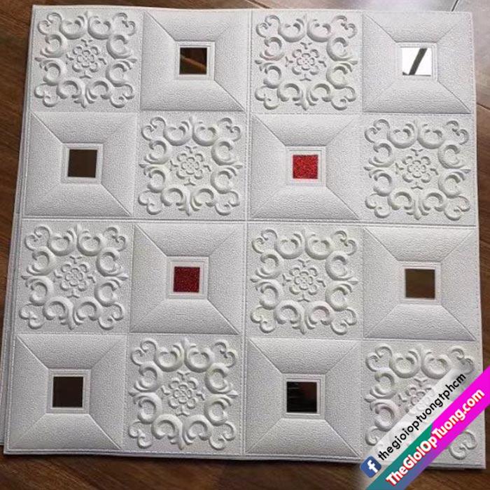Xốp dán tường 3D da hoa văn cổ điển cao cấp