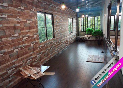 Tấm xốp dán tường chống thấm được không, mua xốp tường 3d ở đâu? THẾ GIỚI ỐP TƯỜNG KHO CUNG CẤP VẬT LIỆU TRANG TRÍ NỘI THẤT GIÁ RẺ TỐT NHẤT XỐP DÁN TƯỜNG 3D GIẢ GỖ