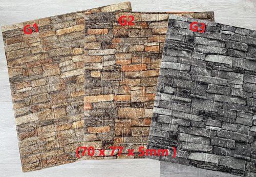 Xốp dán tường giả đá 3D Vintage cổ điển