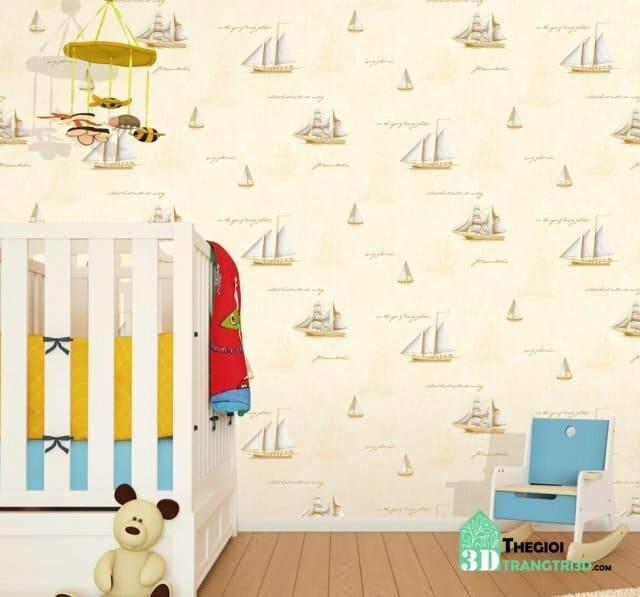 Mua giấy dán tường phòng ngủ bé trai quận Tân Bình, Tân Phú. Giá giấy dán tường phòng trẻ em bao nhiêu 1m2 ?