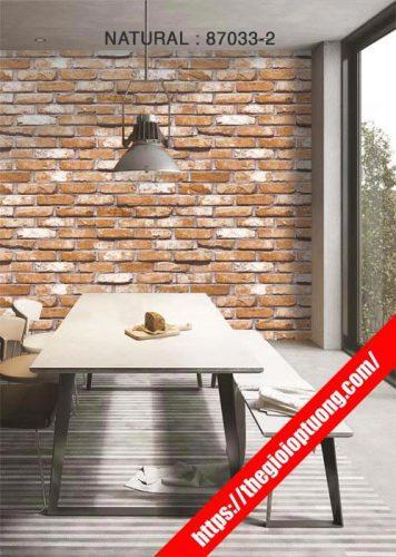 giấy dán tường giả gạch, giả đá; giấy dán tường giả gỗ do Thế Giới Ốp Tường