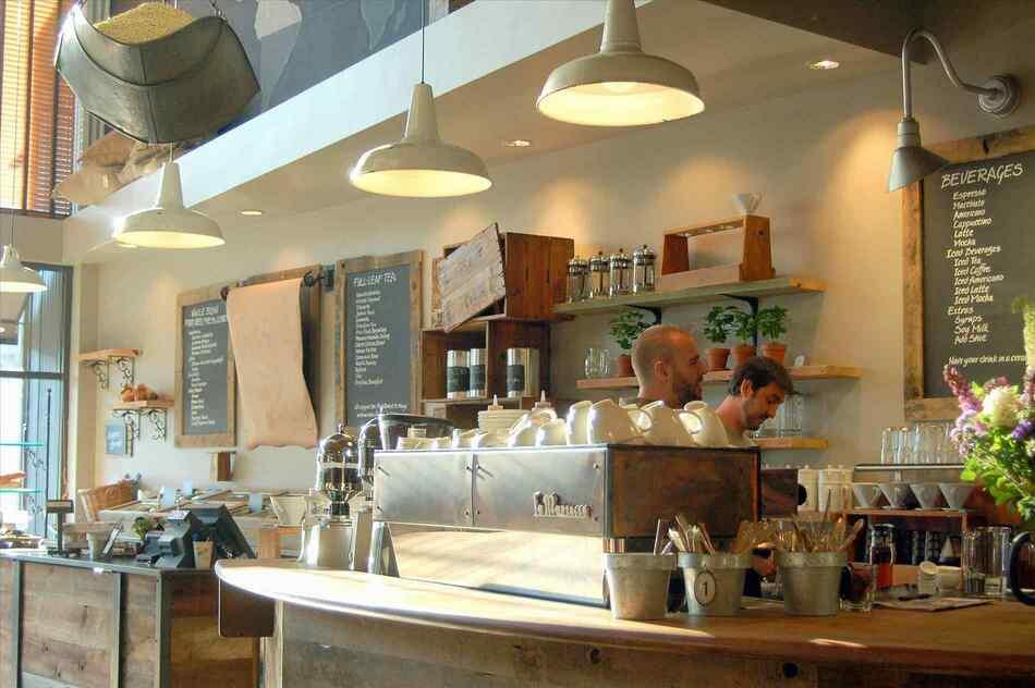 Trang trí quán cà phê hiện đại với giấy dán tường 3D hàn quốc