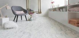 Mẫu sàn nhựa giả đá giả xi măng đẹp cho quán cafe, cửa hàng