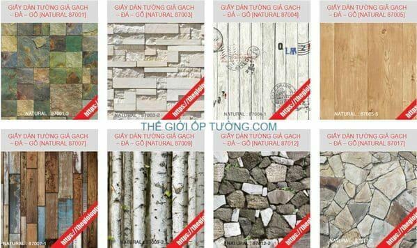 Giấy dán tường thiên nhiên, giấy dán tường giả gạch giả đá. giấy dán tường giả bê tông