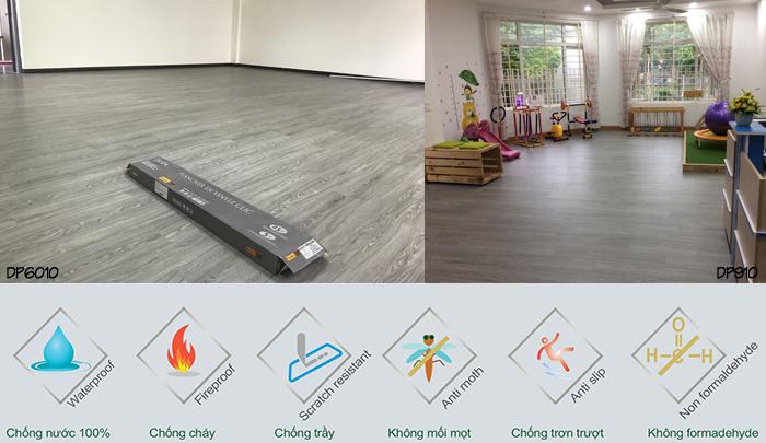 sàn nhựa giả gỗ, sàn gỗ nhựa tự dán golden floor