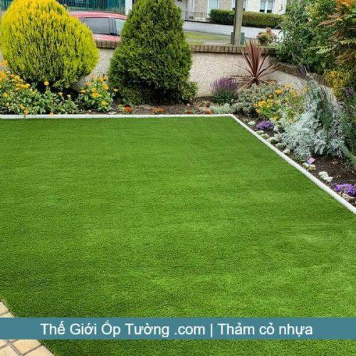 Thảm cỏ xanh lót sàn, cửa hàng bán cỏ nhựa trang trí