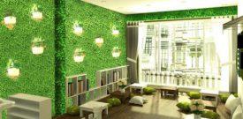 Cách dán cỏ nhựa lên tường, trang trí tường cây giả