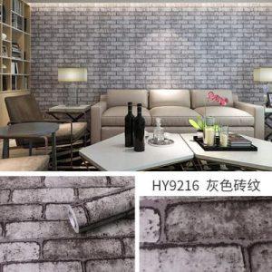 Dán tường decal hàn quốc giả gạch xi măng - 9216