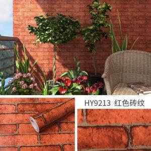 Dán tường decal hàn quốc giả gạch đỏ cổ - 9213