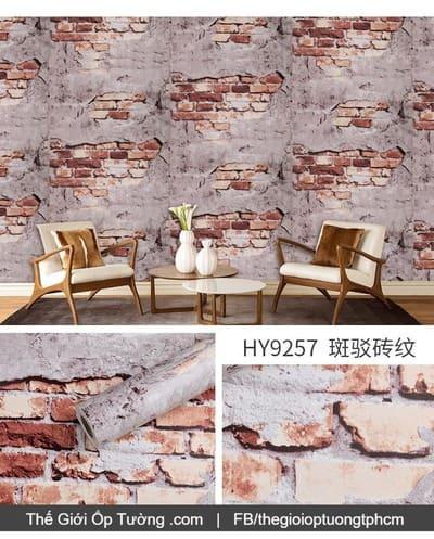 Dán tường decal hàn quốc giả gạch bê tông - 9257