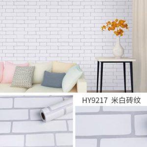 Dán tường decal hàn quốc giả gạch trắng - 9217