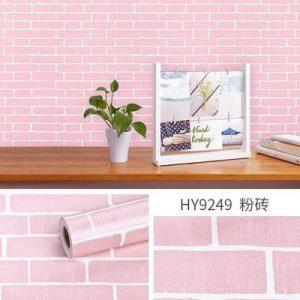 Dán tường decal hàn quốc giả gạch hồng - 9249