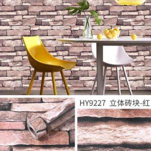 Decal dán tường giả gạch kiểu cổ - 9227