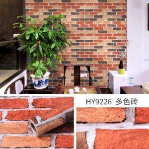 Decal dán tường giả gạch kiểu cổ - 9226