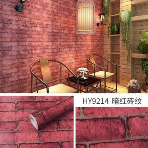 Decal dán tường giả gạch đỏ - 9214