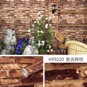 Decal dán tường giả gạch kiểu cổ – 9220