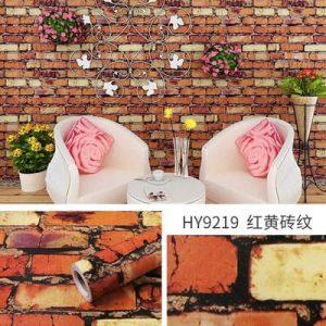 Decal dán tường giả gạch kiểu cổ - 9219
