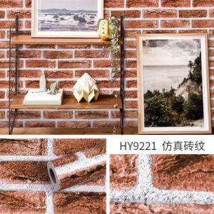 Decal dán tường giả gạch kiểu cổ - 9221