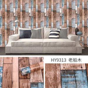 Decal dán tường hàn quốc giả gỗ vintage – 9313