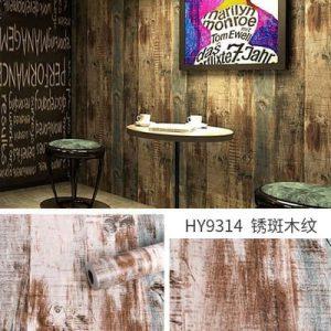 Decal dán tường hàn quốc giả gỗ vintage – 9314