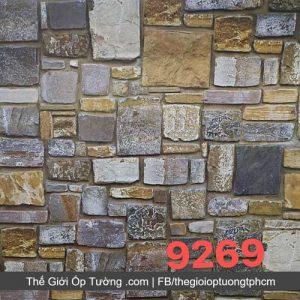 Decal giấy dán tường giả gạch đá ốp - 9269