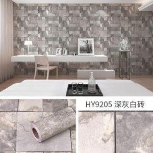 Decal giấy dán tường giả gạch đá hoa cương - 9205