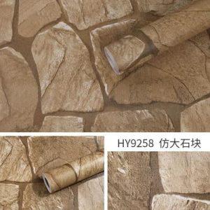 Decal giấy dán tường giả gạch đá - 9258