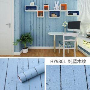 Giấy decal dán tường giả gỗ xanh - 9301