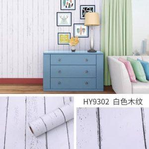 Giấy decal dán tường giả gỗ trắng – 9302