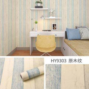 Giấy decal dán tường giả gỗ xanh vintage – 9303