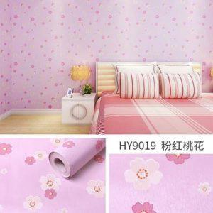 Decal dán tường phòng bé hoa hồng - 9019