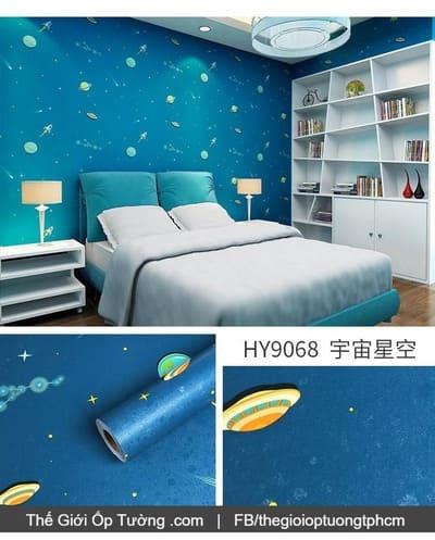 Decal dán tường phòng bé vũ trụ - 9068