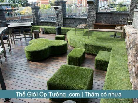 địa chỉ cung cấp thảm cỏ trải nền - cỏ nhân tạo tphcm Thế giới ốp tường