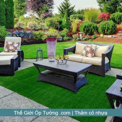 Thảm cỏ nhân tạo trải nền - Cỏ nhựa trải nền đẹp giá rẻ tại kho