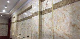 Trang trí ốp tường bằng tấm nhựa giả đá có bền không?