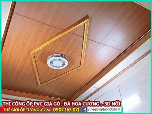 Tấm nhựa giả gỗ ốp trần - giải pháp trang trí trần sang và rẻ