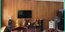 Đơn vị thi công vách gỗ ốp tường hcm, ốp pvc giả gỗ, lam gỗ nhựa