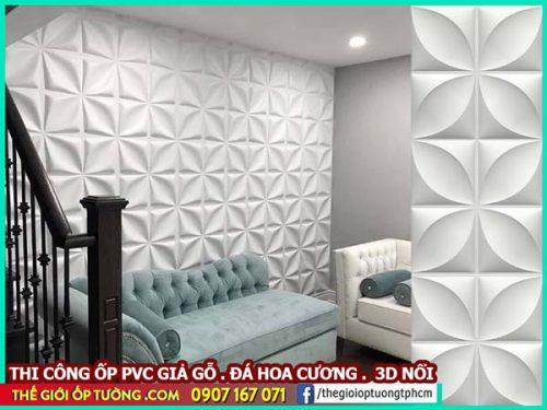 Cách trang trí phòng khách nhỏ với tấm ốp tường sang trọng, lịch sự