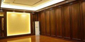 Thi công ốp tường nhựa giả gỗ PVC phòng khách