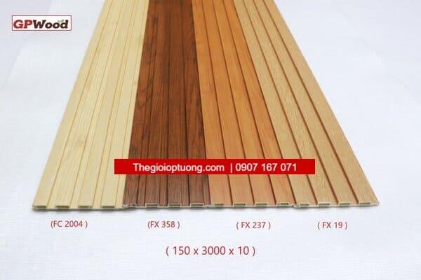 Quy cách sản phẩm ốp Nhựa Composite GPWood Cao Cấp. Địa chỉ thi công ốp tường lam sóng, lam ốp tường giả gỗ đẹp