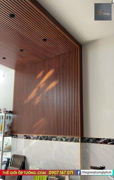 Thanh lam nhựa giả gỗ, Công trình lam ốp tường trần vách ngăn