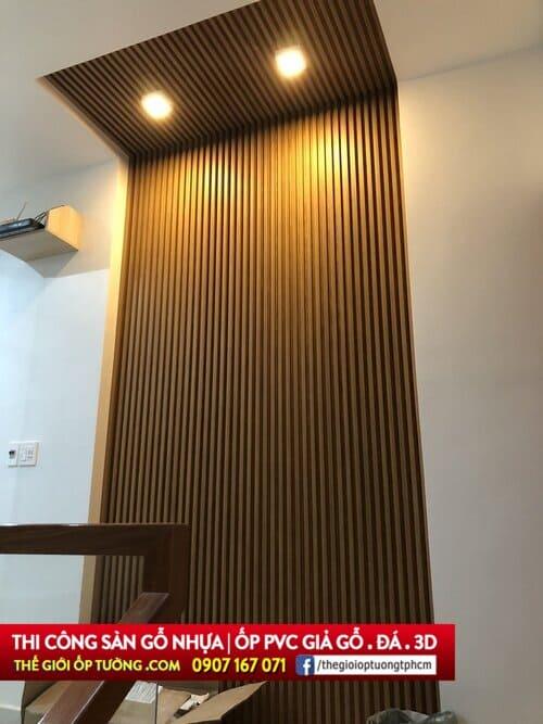 ốp gỗ nhựa pvc - ốp tường gỗ composite