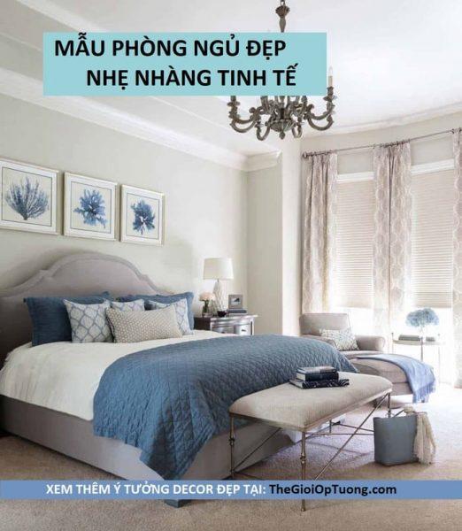 Cách sắp xếp phòng ngủ đẹp nhẹ nhàng tinh tế