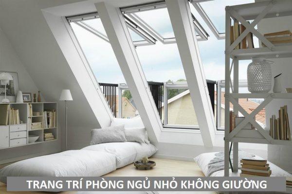 Trang trí phòng ngủ nhỏ không giường - xu hướng thiết kế mới